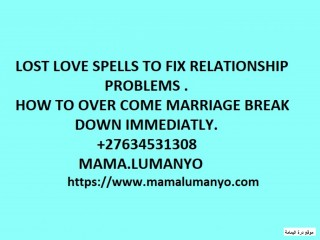 MAGIC SPELLS TO BRING BACK LOST LOVER CALL +27634531308