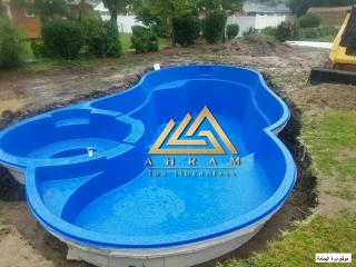 افضل حمامات سباحة واكوابارك والعاب مائية من الاهرام للفيبر جلاس