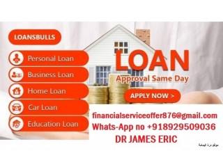 URGENT LOAN OFFER WhatsApp +918929509036